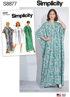 Simplicity Women's Kaftan Sewing Pattern, 8877, XS-XL