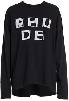 Rhude Haus Long-Sleeve Cotton T-Shirt