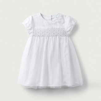 The White Company Champagne Smocked Dress, Champagne, 12-18mths
