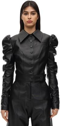 MATÉRIEL Cropped Faux Leather Jacket