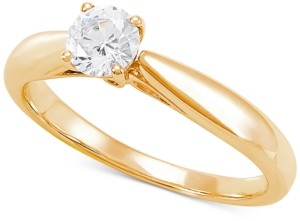 Grown With Love Lab Grown Diamond Solitaire Engagement Ring (1/2 ct. t.w.) in 14k White Gold