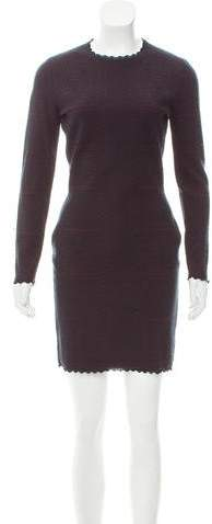 Alexander McQueen Long Sleeve Mini Dress