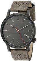Komono Unisex KOM-W2014 Winston Brogue Series Analog Display Japanese Quartz Grey Watch