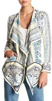 Johnny Was Draped Collar Embroidered Cardigan