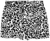 Cheetah-print cotton-blend shorts
