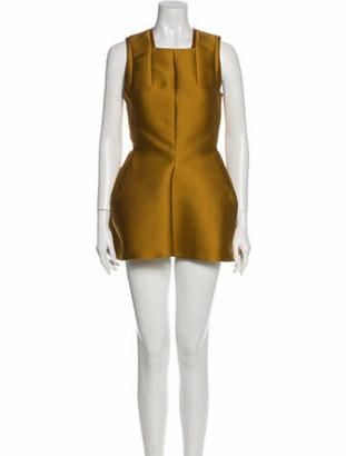 Lanvin Square Neckline Mini Dress w/ Tags Yellow