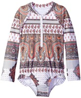 Seafolly Moroccan Paisley Long Sleeve Surf Tank One-Piece Girl's Swimsuits One Piece