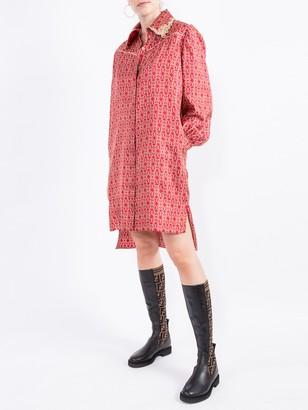 Fendi Gate Printed Mini Dress
