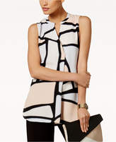 Alfani PRIMA Printed Draped Top, Only at Macy's