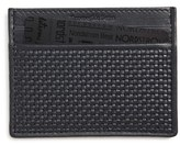 Ermenegildo Zegna Men's Leather Card Case - Blue