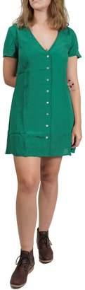 RVCA Button-Up Dress
