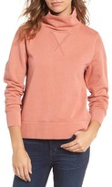 Madewell Women's Garment Dyed Funnel Neck Sweatshirt
