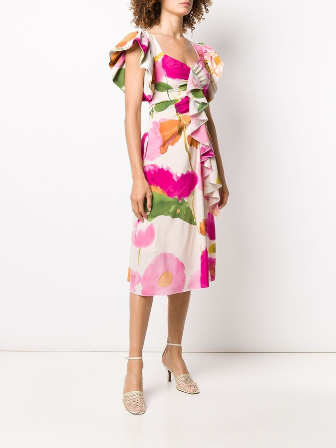 Thumbnail for your product : La DoubleJ Date Night floral print dress