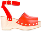 Celine wedge sandals - women - Calf Leather/Leather/Foam Rubber - 36