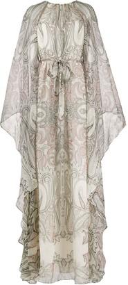 Etro Paisley Print Draped Gown