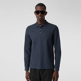 Burberry Long-sleeve Cotton Pique Polo Shirt