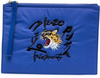 Kenzo x Kansai Yamamoto embroidered clutch bag