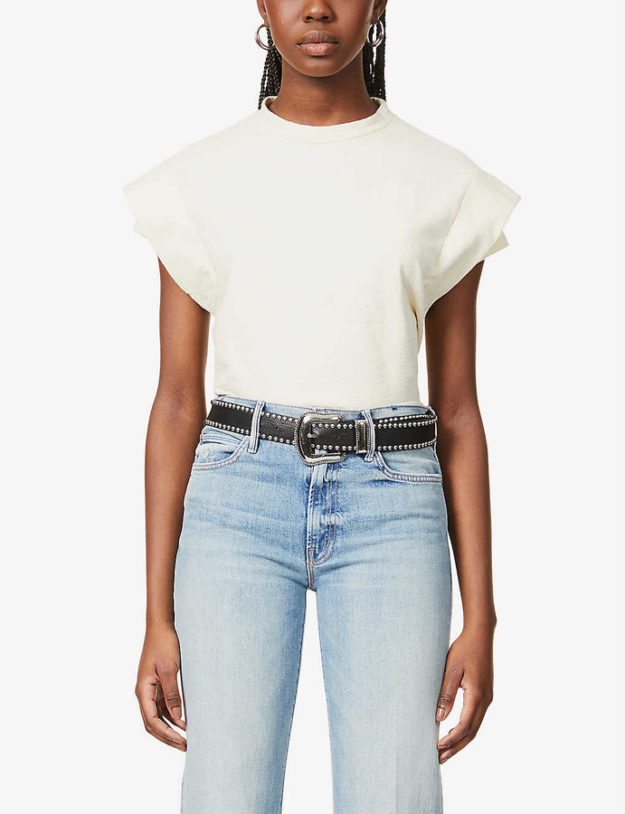 Thumbnail for your product : Mother The Kick It straight-leg mid-rise jeans