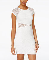 Amy Byer Juniors' Illusion Lace Bodycon Dress