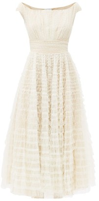 Giambattista Valli Tiered Swiss-dot Tulle Gown - Ivory