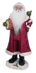 Transpac Trans Pac Resin Medium Red Christmas Soft Beard Traditional Santa Figurine
