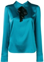 Styland bow-detail satin blouse