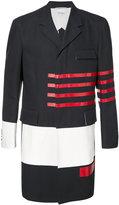 Thom Browne block panel overcoat - men - Cotton/Cupro - III