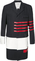 Thom Browne striped panel coat - men - Cotton/Cupro - III