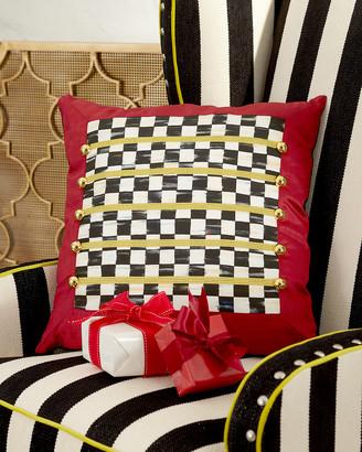 Mackenzie Childs Holiday Regimental Square Pillow