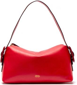 Frances Valentine Ruby Water Resistant Leather Shoulder Bag