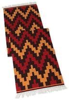 Hand Crafted Geometric Wool Area Rug (2x8), 'Andean Mountains'