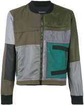 Longjourney patched bomber jacket - men - Cotton/Polyester/Calf Leather - M