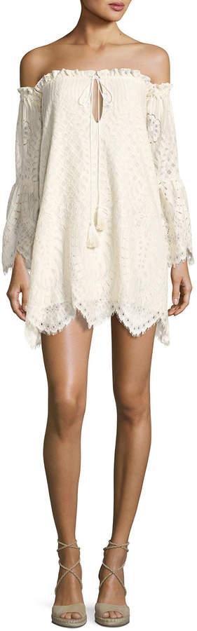 Red Carter Deidra Off-the-Shoulder Lace Dress, Off White