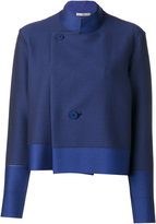 Issey Miyake striped jacket - women - Nylon/Polyester/Polyurethane - 3