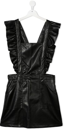 Philosophy Di Lorenzo Serafini Kids TEEN faux leather pinafore dress