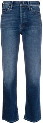 Mother straight leg cropped jeans