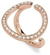 Roberto Marroni 18ct Red Gold and Brown Diamond Circle Ring