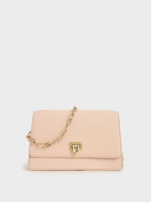 Charles & Keith Double Chain Link Push-Lock Bag