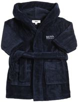 HUGO BOSS Embroidered Logo Cotton Bathrobe