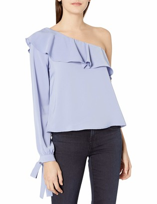 J.o.a. Women's Sleeve Tied Off The Shoulder Top
