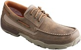 Twisted X Men's Leather Boat Shoe Driving Moccasins