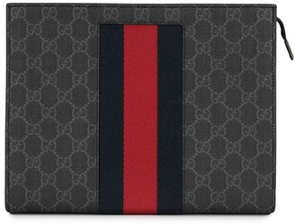 Gucci Pre-Owned GG Pattern Shelly Line clutch