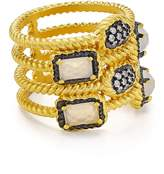 Freida Rothman Gilded Stone Cage Ring
