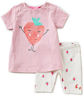 Joules Baby Girls Newborn-12 Months Paula Strawberry Graphic Top & Printed Leggings Set