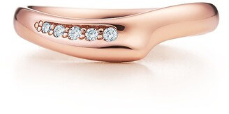 Tiffany & Co. Elsa Peretti Open Heart band ring in 18k rose gold with diamonds