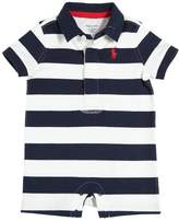 Ralph Lauren Striped Cotton Interlock Romper
