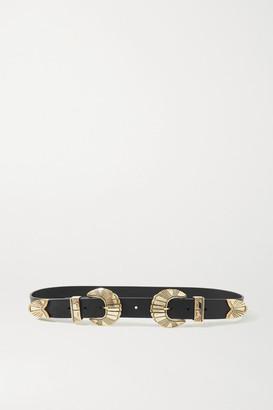 Black & Brown Net Sustain Olivia Leather Belt