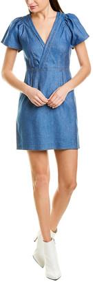 Derek Lam 10 Crosby Linen-Blend A-Line Dress