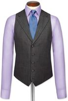 Charles Tyrwhitt Grey Check Flannel Business Suit Wool Vest Size w36