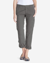 Eddie Bauer Women's Slightly Curvy Adventurer® Ripstop Crop Cargo Pants